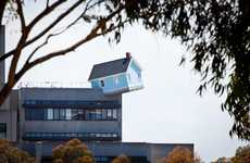 Precariously Perched Homes - Do Ho Suh's Fallen Star Installation Looks Like a Crash-Landed Ho