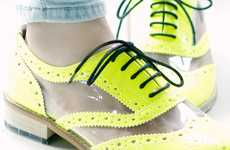 Highlighter-Hued Kicks - The Fluo Derby Shoes Will Electrify Your Ensemble