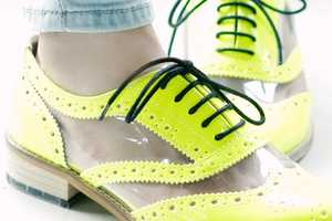 The Fluo Derby Shoes Will Electrify Your Ensemble