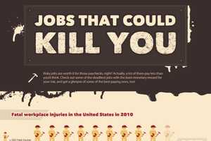 The Jobs That Could Kill You Infographic Documents Risky Occupations