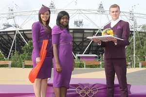 The London 2012 Medal Presenting Apparel is Futuristic
