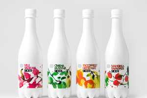 Olvi Cider Sports a Stark Bottle Adorned with Vibrant Illustrations