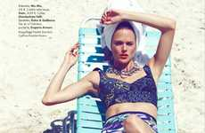 Eclectic Couture Swimwear - The ELLE France 'Sea Beaux, Sea Stars!' Editorial Stars Shannan Click