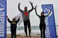 The 3rd Annual World Crap Surfing Championship was Eccentric