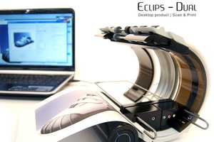 The Eclipse-Dual Printer is Tech-Savvy and Contemporary-Chic