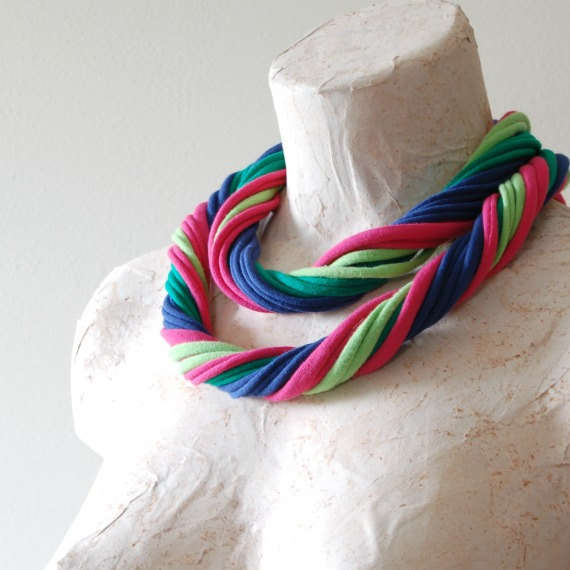 Upcycled T-shirt Jewelry