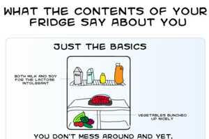 The Fridge Infographic Reveals Your Personality Based on Food