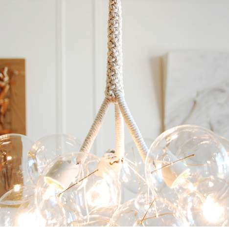 bubble chandelier by pelle
