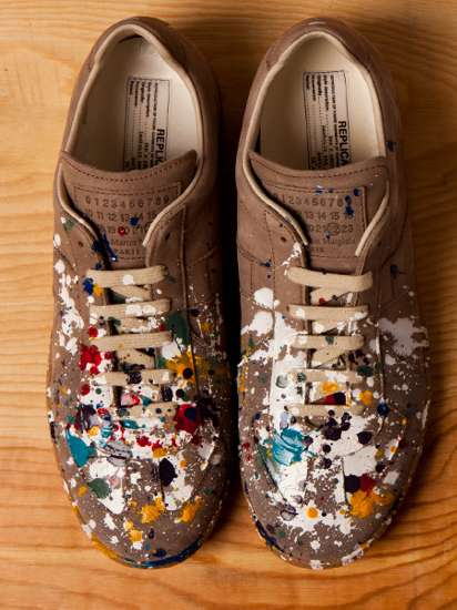 splatter replica sneakers