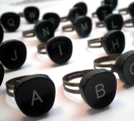 typewriter rings by theapple