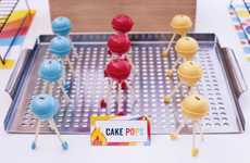 Clever Cookout-Themed Treats - Cake Pop BBQ Grills are the Perfect Treat for Dad on Father's Day
