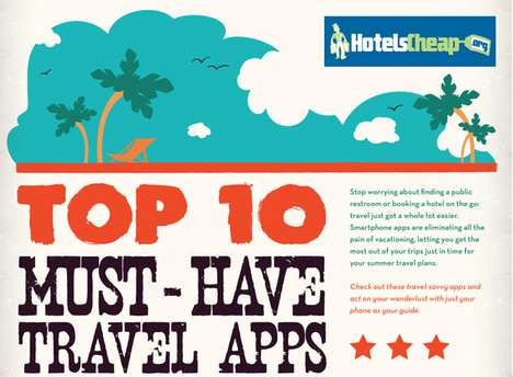 travel apps infograph