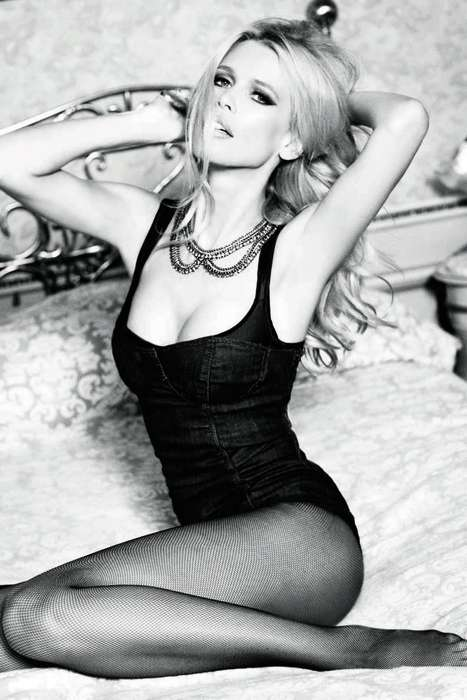 Evocative Blonde Editorials - The 30th Anniversary Photo Shoot for Guess Features Claudia Schiffer