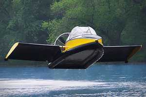 The Hammacher Schlemmer 'Flying Hovercraft' is for Air and Water