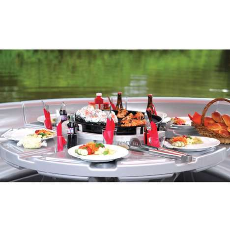 The Barbecue Dining Boat Allows You to Grill on the Water