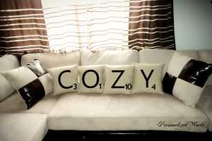 The 'Personalized World' SCRABBLE Pillows are Customizable