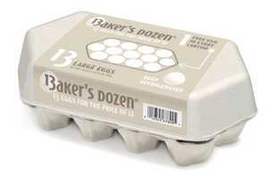 Baker's Dozen Eggs Packaging is Best Satisfies the Generous Cook