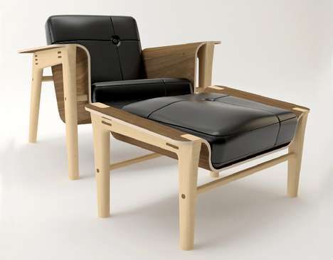 Sleek Sustainable Chairs - The Daniel Edwards Club Chair is Comfy and Eco-Conscious