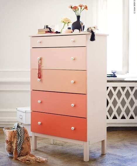 Fading Colored Furniture - The DIY Ombre Dresser is an Inexpensive and Fun Project