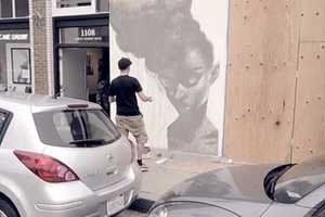 The SIT 'Haiiro' Mural Painting Demonstrates Talent Live
