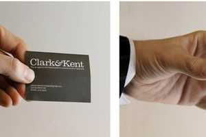 The Clark&Kent Business Cards Are Shaped Like Phone-Booths