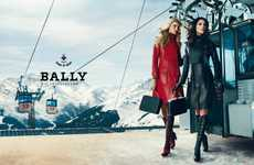 Ski-Themed Fashion Ads - The Bally Fall Campaign Was Shot in the Alps