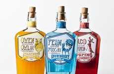 Quirky Soft Drink Branding - Hugh Heffernan Creates Kitschy Soda Packaging for Elixir