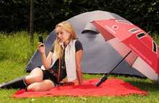 Umbrella Phone Chargers - The Booster Brolly Will Juice Your Phone, Rain or Shine