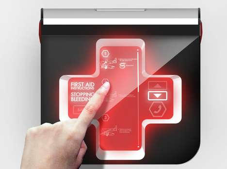 Hi-Tech Emergency Kits - First Aid 2.0 Guides the Lifesaver Through a Rescue with its Digital Screen