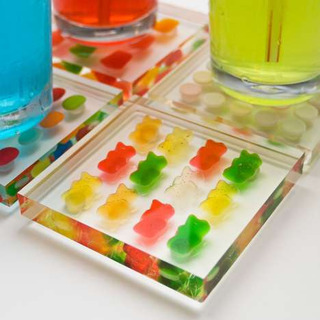 Captive Candy Coasters - The Candy Coasters by Stephen Mantis Keep Your Sweets Locked Down