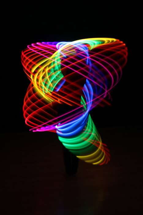rechargeable double rainbow led hula hoop
