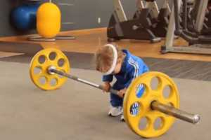 The Olvarit Commerical Launches with Babies Hitting the Weights