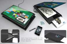 Do-All Touchscreen Tech Concepts - The AC Portable Office Functions as Both a Tablet and Printer