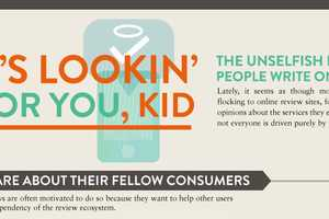 The 'Unselfish Reasons Why People Write Online Reviews' Infographic