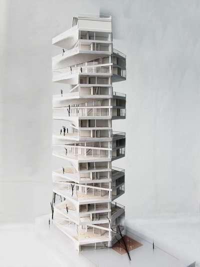 writhing tower by lycs architects