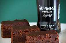 Alcohol-Saturated Sweets - The DIY Guinness Brownies are Liquored Up