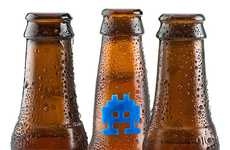 Intergalatic 8-Bit Bottle Labels - The Space Invaders Beer Markers Will Defend Against Drink Thieves
