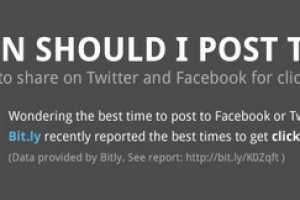 The 'When Should I Post This?' Chart is on Twitter and Facebook