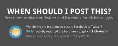 Timed Social Media Interactions - The 'When Should I Post This?' Chart is on Twitter and Facebook