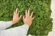 Lush Living Tapestries - Evergreen by Freund is a Wall-Mounted Moss Panel that Helps a Home Breathe