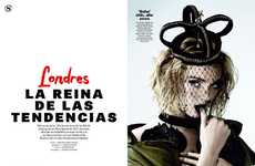 Regally Grunge Editorials - The S Moda 'La Reina De Las Tendencias' Photoshoot Stars Lily Cole