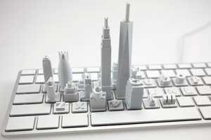 The Sang Un Jeon 'Virtual City' Sculpture Creates a Digita