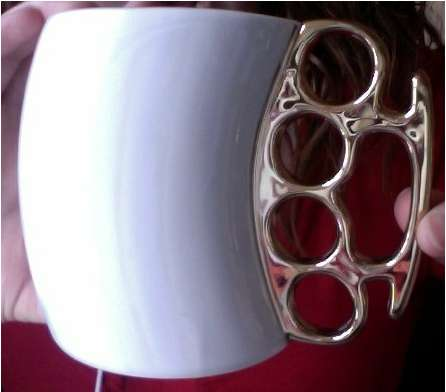 Badass Brass Knuckle Java Holders