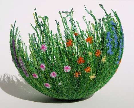 Grass Garden Bowls - The Chocolate Frog Collection Offers Surreal Plant Dishes