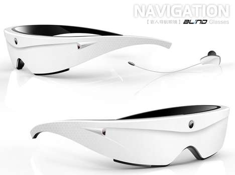 Visually Impaired Eyewear - The Navigation Blind Sunglasses Help Guide the Handicap