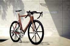 Computerized Car-Inspired Bicycles - The Aston Martin One-77 Cycle is a High-Tech Two-Wheeler