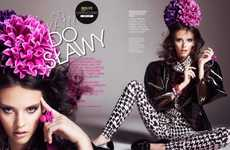 Blossoming Pattern Pictorials - The Od Kawy Do Slawy Editorial Transforms Ordinary Girls Into Models