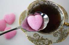 Lovey Dovey Sweeteners - These Heart-Shaped Sugar Cubes are the Perfect Saucer-Side Accessory