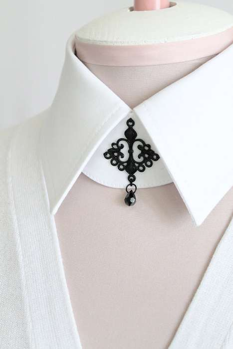 ollegoria cotton detachable collar
