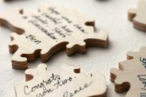 The 'Wedding Puzzle Guest Book' is a Sweet Memory Keeper